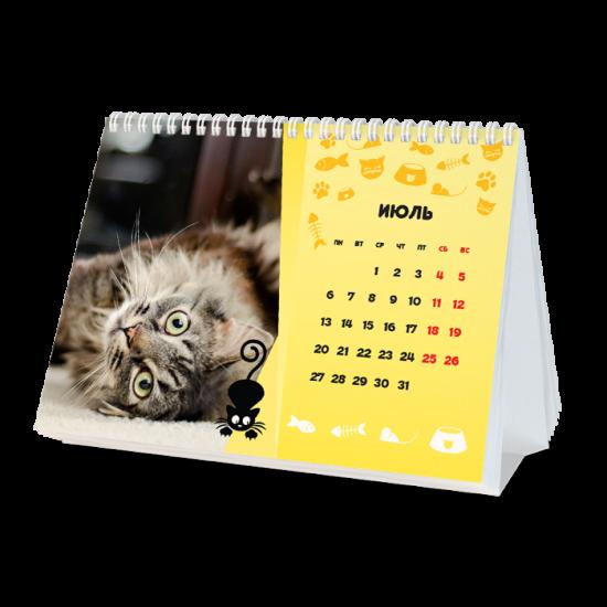 Фотокалендарь-домик «Котики»